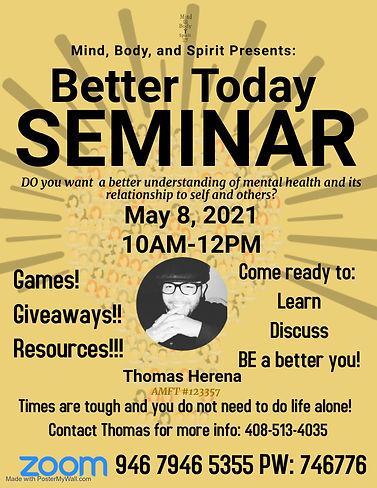 Copy of Mental Health Seminar - Made wit