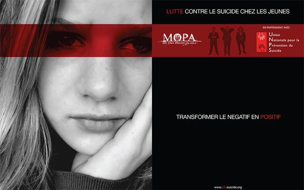 Kertone Production - My Own Private Alaska (MOPA) - Union Nationale de Prévention du Suicide (UNPS) - Affiche