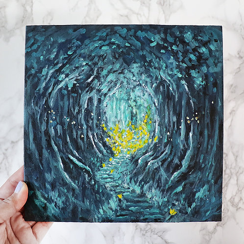 """Through to Light"" 8""x8"" Acrylic Painting"