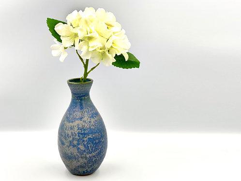 Metallic Blue Vase