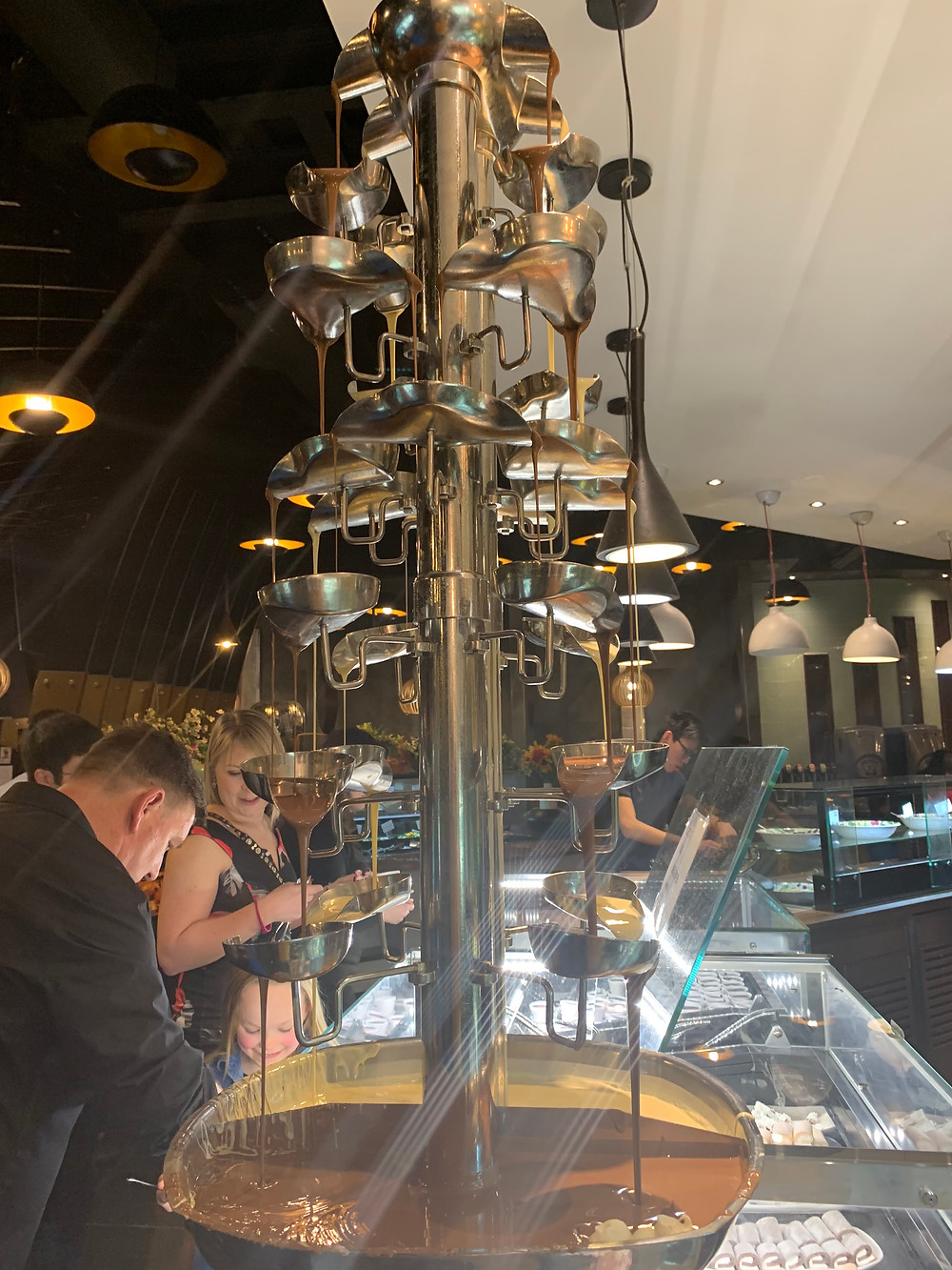Chocolate  Fountain at Cosmo Nottingham