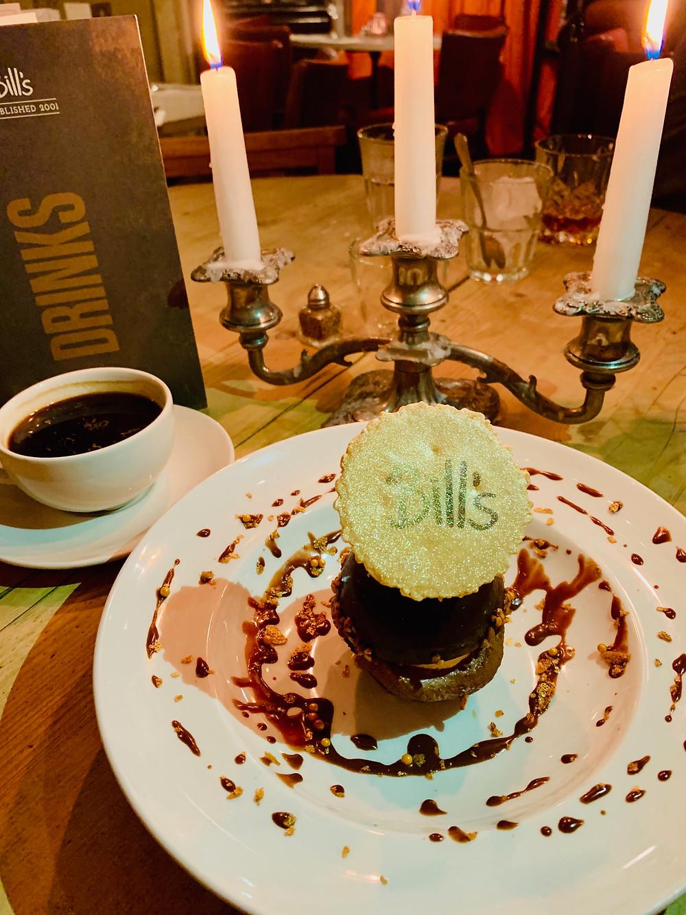 Bill's chocolate and hazelnut praline sphere