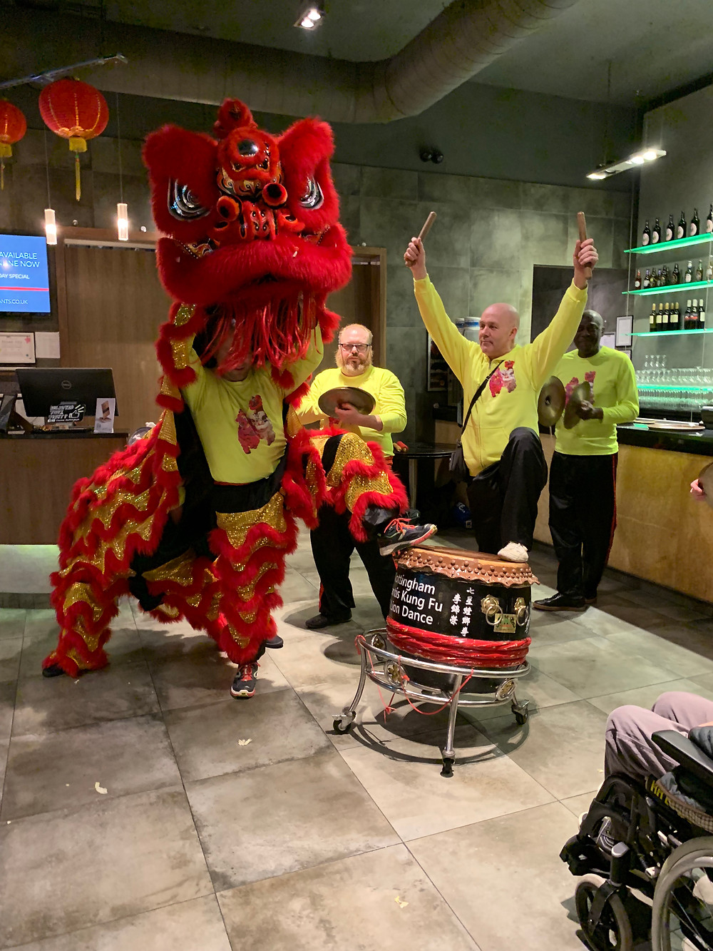 Lion dance at Cosmo Nottingham