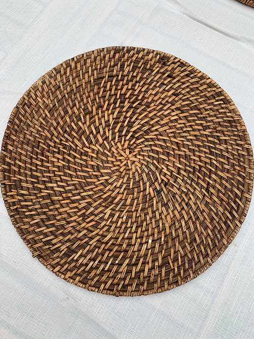 Set of 6 Vintage Wicker Placemats