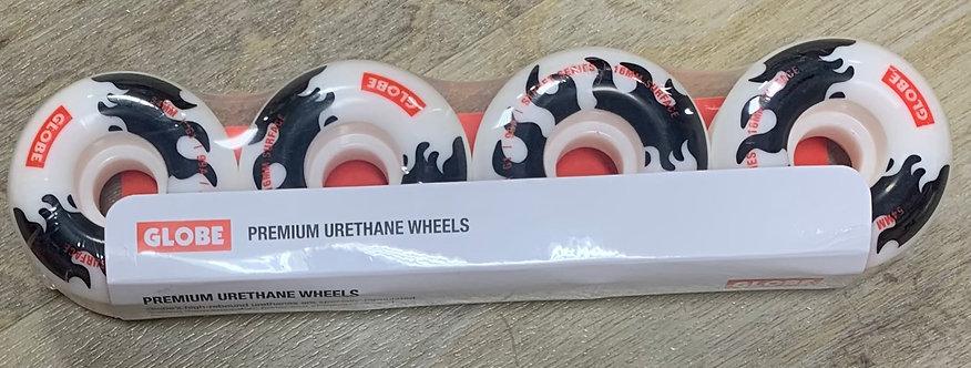 Globe 54MM Premium Urethane Street Wheels (Flame / White)