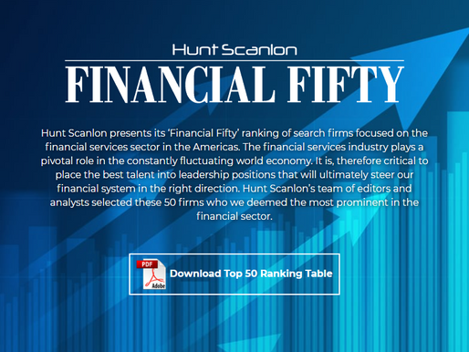 Right Executive Search Joins '2020 Financial Fifty' ranking by Hunt Scanlon Media
