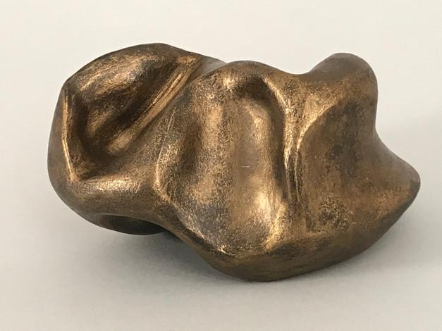 stoneware, metallic wax, acrylic