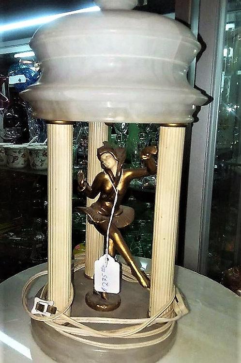 Harlequin Pixie Art Deco Alabaster Marble Pavilion Dancer Lamp