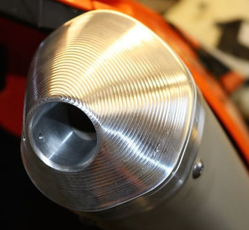 power end cap for ktm exhaust