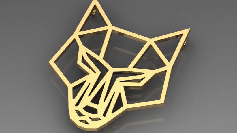 Fox geometric pendant