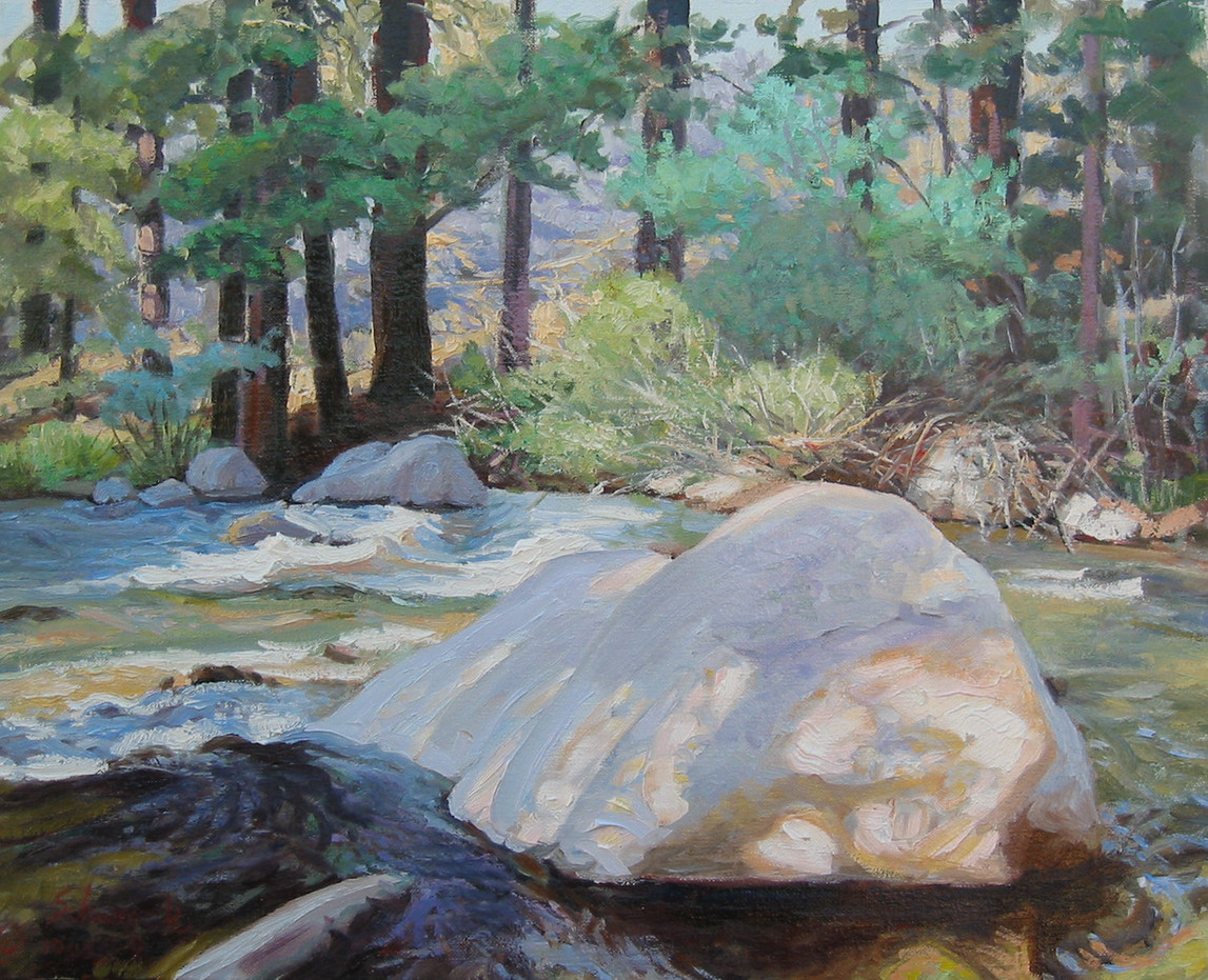 Boulder in the Stream - Robinson Creek