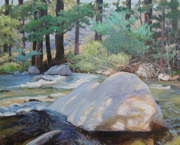 Boulder in the Stream - Robinson Creek