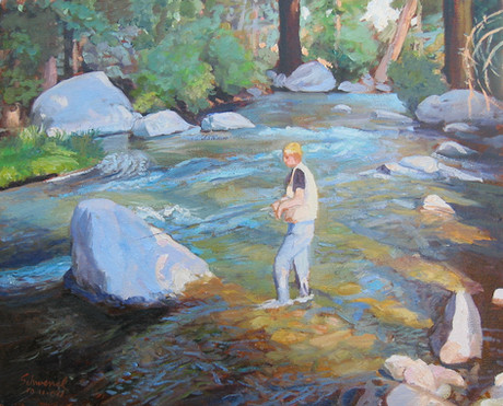 Anthony in Robinson Creek
