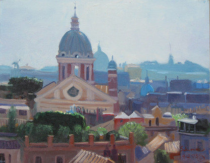 Skyline of Rome from the Spanish Steps