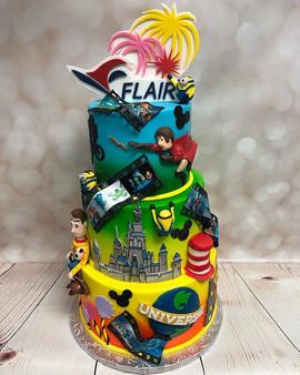 An Orlando themed cake for _flyeia this