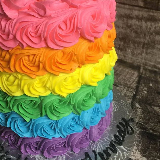 So much color! #rainbow #rosettes #butte