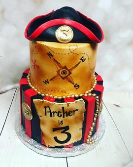 Pirate theme! #birthday #cake #yegbakery