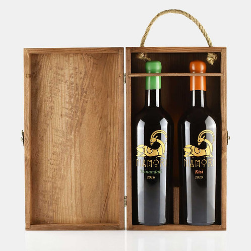 Tsinandali & Kisi | with Wooden Box | 0.75 Liter | Engraving  of Text