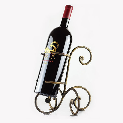 Kindzmarauli | Red Semi Sweet | with Metal Wine Bottle Holder | 3 Liter | Engraving of Text