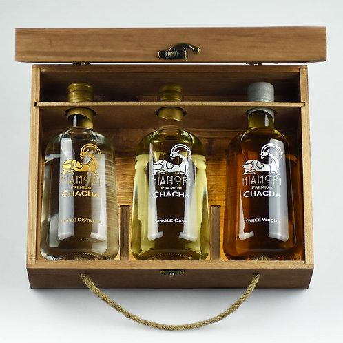 ჭაჭა | Triple Distilled, Single Cask, Three Woods |ხის ყუთით|წარწერის გრავირებით