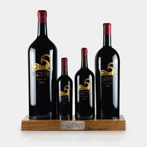 Niamori Family | Saperavi | Red Dry | with Wine Bottle Holder | Engraving of Text