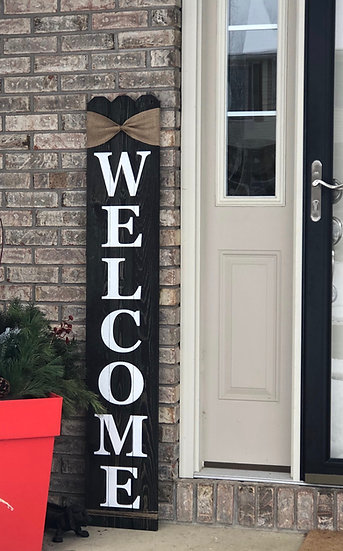 Picket style porch sign