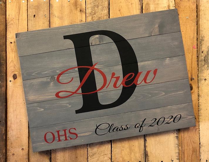Senior Commemorative Graduation Sign