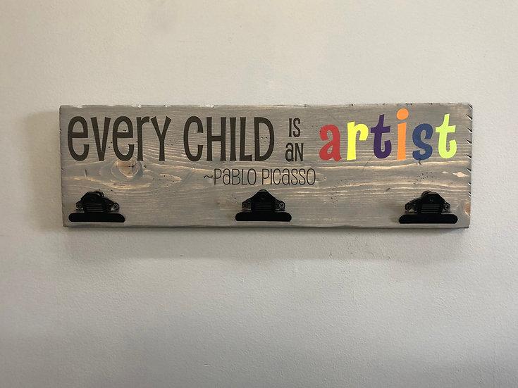 Child Artist Clipboard