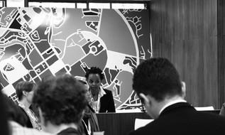 Beryl Oranga at a panel discussion.