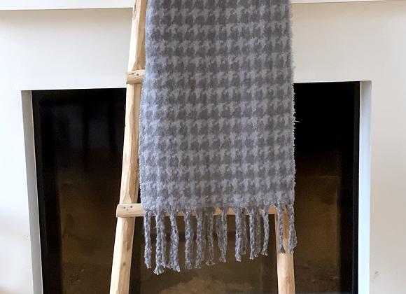 Sjaal gestreept met frengels
