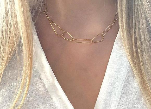 Gouden ketting met ovale schakels