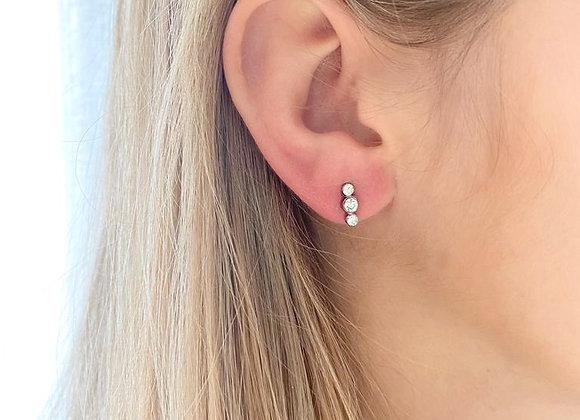 Zilveren oorbellen met hanger