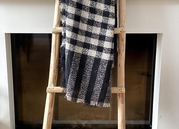 Sjaal geruit zonder frengels