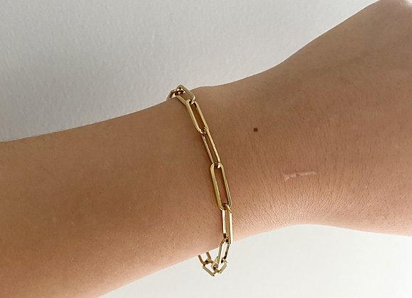 Gouden ovale schakelarmband