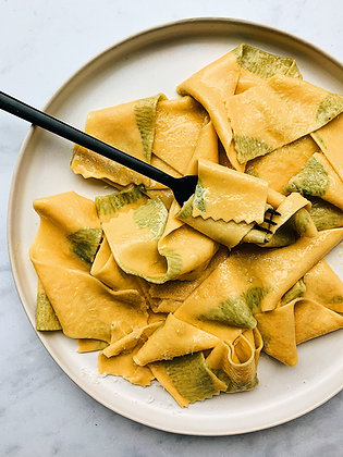 Pasta Quarantine: Let's Make Herb-Laminated Pasta!