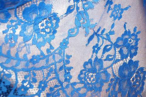 Кружево синие