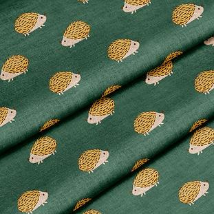Green Hedgehogs fabric mockup.jpg