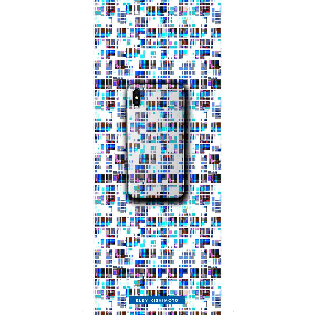 Pixilated Blue