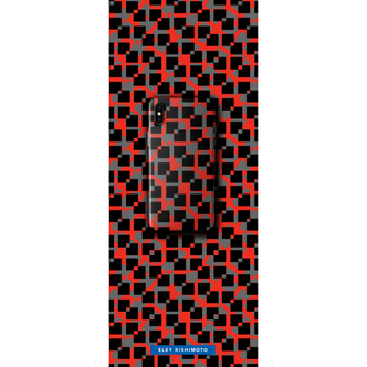 Trippy Square Red