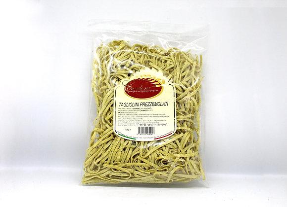 """""""TAGLIOLINI PREZZEMOLATI - Pasta Fresca"""" Parsley Fresh Tagliolini Pasta"""