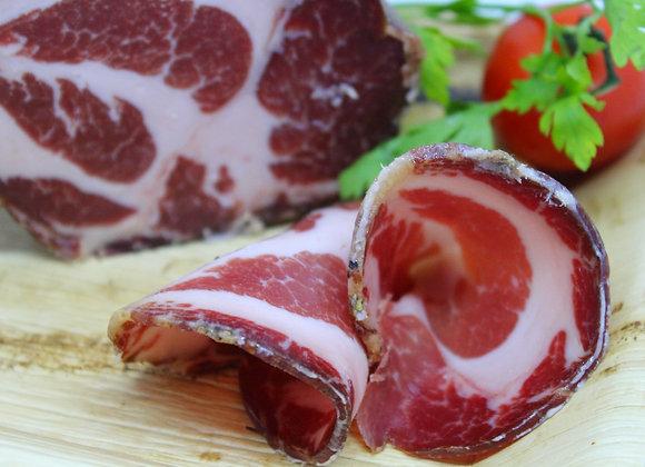 """""""CAPOCOLLO STAGIONATO"""" Cured pork neck ham"""