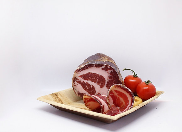 """CAPOCOLLO STAGIONATO"" Cured pork neck ham"