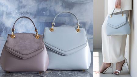 英國凱特王妃愛牌!GRACE HAN『Love Letter Top Handle Bag』情書手提包,超美新色珍珠藍&藕粉色~