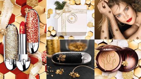 法國嬌蘭 2021聖誕彩妝:精品級手工刺繡『金蜂紅寶彩殼』,時尚開運唇膏彩殼+冰金磚紅、肉桂奶茶太美了!