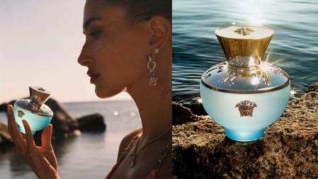 就像來到夏日的海邊~ VERSACE淡藍女性淡香水包裝超美!淡藍色玻璃瓶身、映襯清澈的海水&清新木質調,好適合夏天~