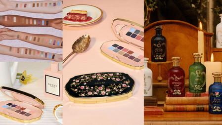 好美的復古珠寶盒!GUCCI BEAUTY『繁花漫步眼影盤』一年四季都能用!復古藥瓶包裝『緋之夕香水』燙金設計好有質感~