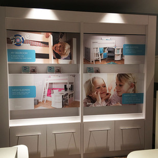 Wall graphics in fixed unit