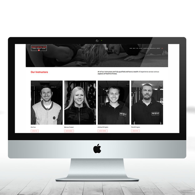 Heavy Metal Gym - instructors page