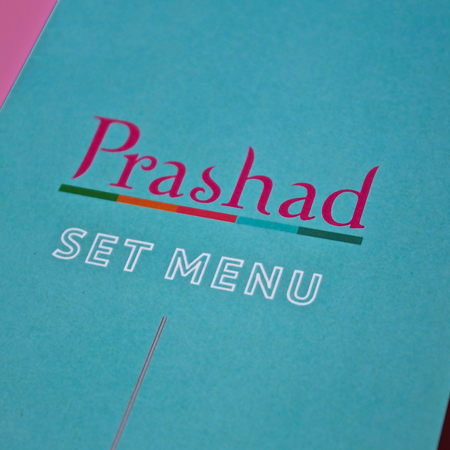 Prashad Set Menu - Front Cover