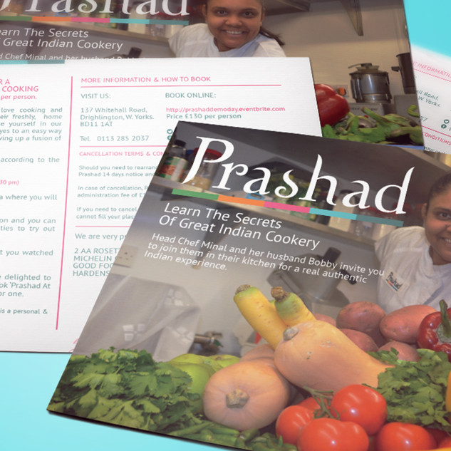 Prashad's Cooking Course - Promotional Postcards